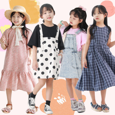 HARA fall new arrivals/Dress/Flower/long tee/Loose fit