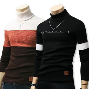 [블루포스]겨울신상 목폴라티/기모 남자옷/니트/터틀넥목티셔츠