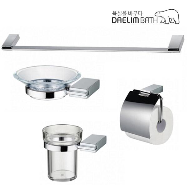대림바스 욕실 액세서리 4종 세트/휴지/컵걸이/비누대 상품이미지