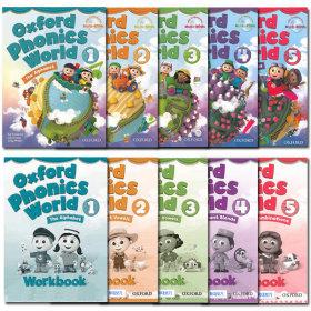 Oxford Phonics World Set(Student Book+Workbook)1/2/3/4/5단계/Readers 선택가능