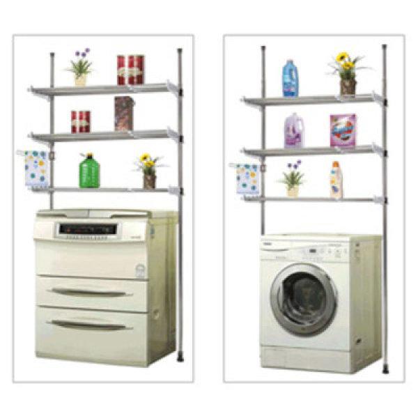 김치냉장고/세탁기선반 행거 2단/3단수납 세탁실선반 상품이미지