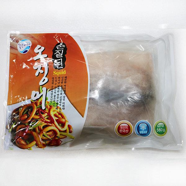여수고기)국내산 손질 오징어 1팩(2마리)/500g/700g 상품이미지