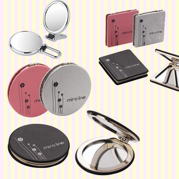 미로 가죽 콤팩트거울/휴대화장확대손거울/딸생일선물 상품이미지