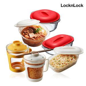 [락앤락]백선생 간편식 글라스 컵용기 / 밀폐용기 햇쌀밥용기