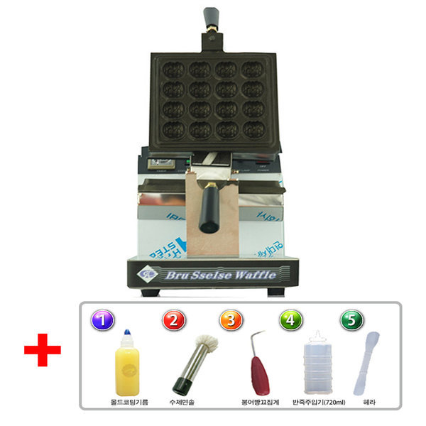 (팝콘짱)호두과자 제조기 1구 16p 회전식 상품이미지