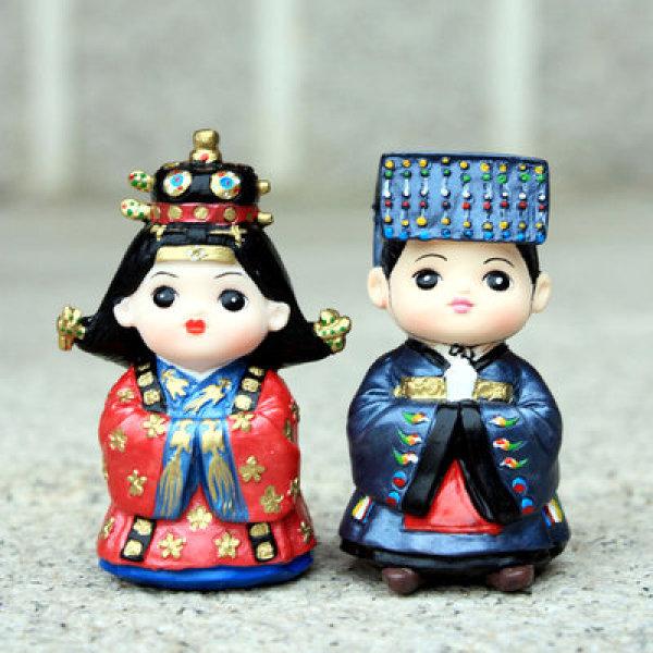 전통 민속인형 한국의 연인시리즈 조선왕왕비대례복 상품이미지