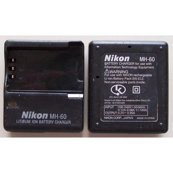 정품중고  니콘 배터리 충전기/NIKON MH-60 (EN-EL2 배터리용) 4.2V 0.95A/전원선 포함 (벌크포장) 상품이미지