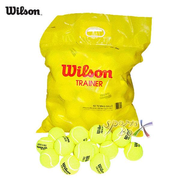 윌슨 테니스 연습구/ 트레이너볼/테니스공 60개 1봉지 상품이미지