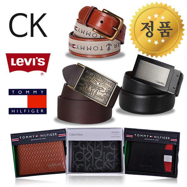 CK 리바이스 타미힐피거 정품 벨트/지갑/가죽/남성 상품이미지