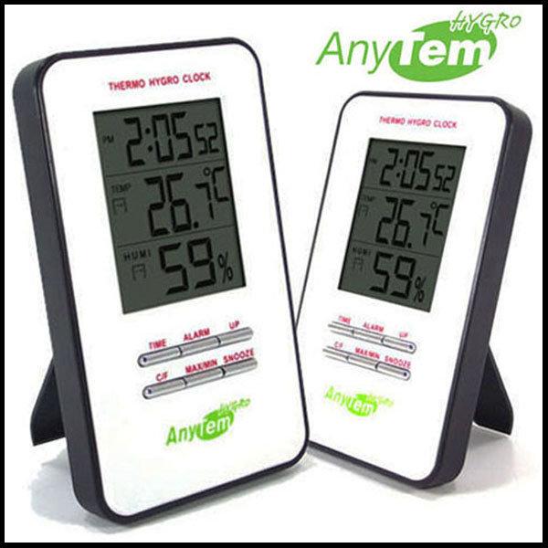 CE유럽인증/애니템 온습도계/온도계+습도계+알람+시계 상품이미지