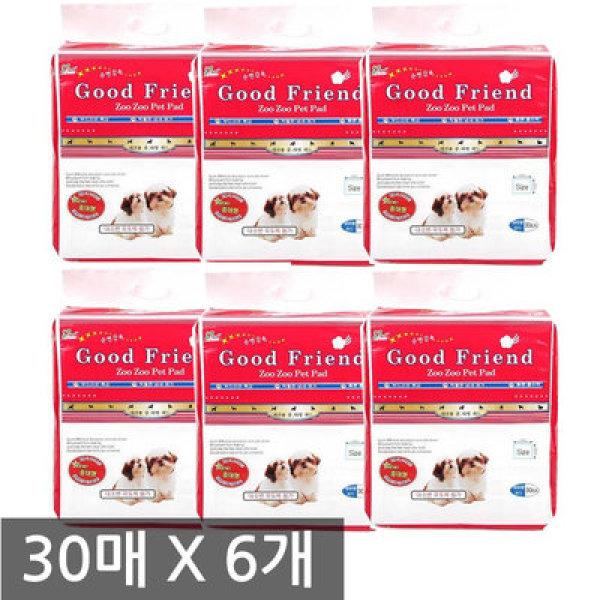 굿프랜드 30매 중대형패드 6개 (180매) 상품이미지