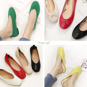 [shoe coco] Women`s footwear collection / flat shoes / loafers / bow / tassel / color block /