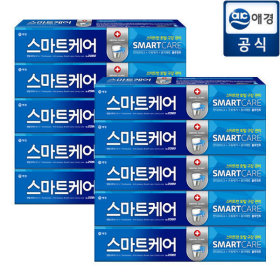 2080 Smart care toothpaste / 190 g x 10 ea / anti-plague / freshen breathe / cavity prevention /