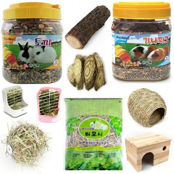 토끼 기니피그 사료 건초 간식 용품 먹이 베딩 화장실 상품이미지