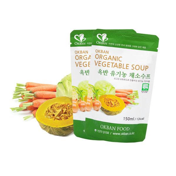 옥반식품 유기농 채소수프 80팩x150ml 야채수프 상품이미지