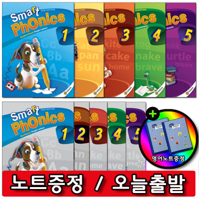 NEW SMART PHONICS / Level 1~5  / Student book + Workbook set / ESL book /