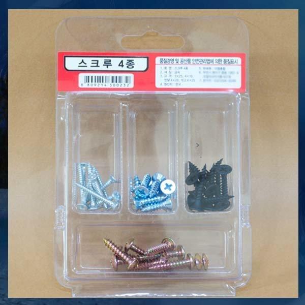 C117/스크류나사못/4종/나사못/나무나사못/철판나사못 상품이미지