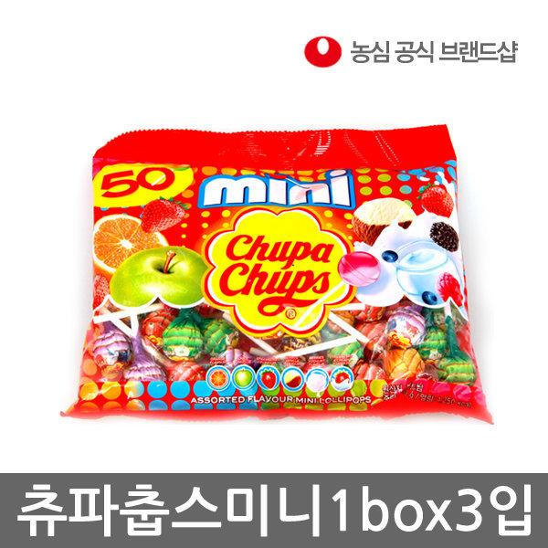 농심직영몰/츄파춥스 미니50입세트(3봉) 1box/사탕 상품이미지