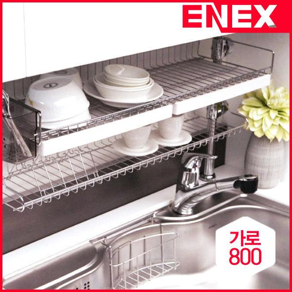 에넥스 ENNEE 800 2단 기둥식 식기건조대 /씽크대선반 상품이미지