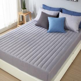 (보드래) 도톰 누빔 침대커버 매트리스커버 패드 베개