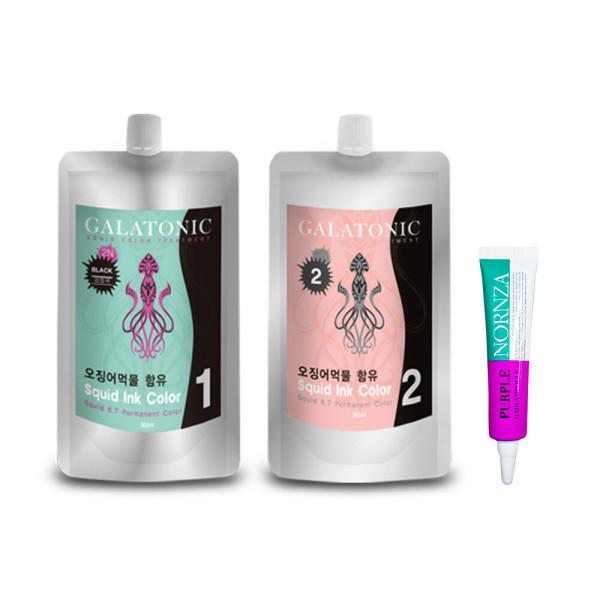 갈라토닉 오징어먹물염색약 풀세트/저자극 웰빙염색약 상품이미지