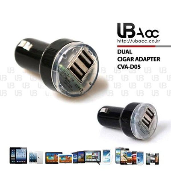 UBAcc정품 차량용 듀얼시거잭 2포트 듀얼 USB 차량용충전기 시거잭충전기 USB충전기 USB형 듀얼포트 상품이미지