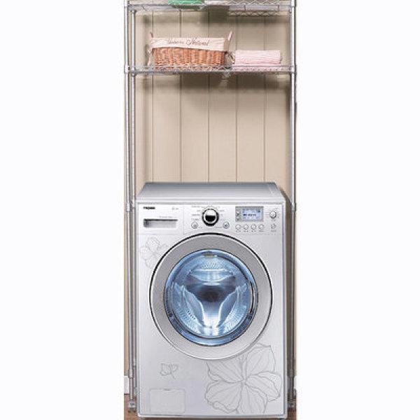 원조 실버메탈 세탁기선반 2단.740/세탁기위 정리선반/다용도선반/메탈선반/욕실수납선반/베란다선반 상품이미지