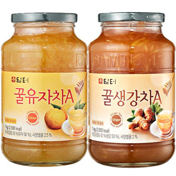 꽃샘/담터 유자차1kg/생강차/대추차/레몬차/모과차 상품이미지