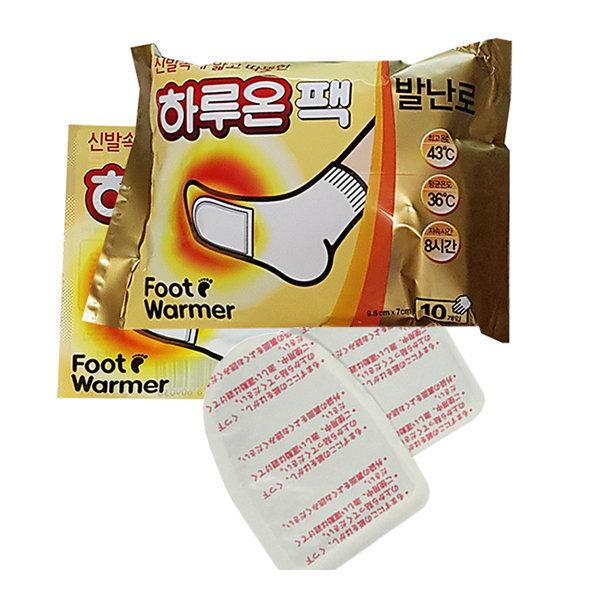 하루온 발난로 핫팩 1팩(5족분10매)(신발속 따뜬따끈) 상품이미지