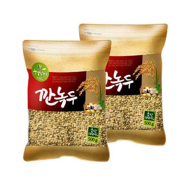 국산 깐녹두 1kg (500gx2개)/2019년산 햇곡 상품이미지