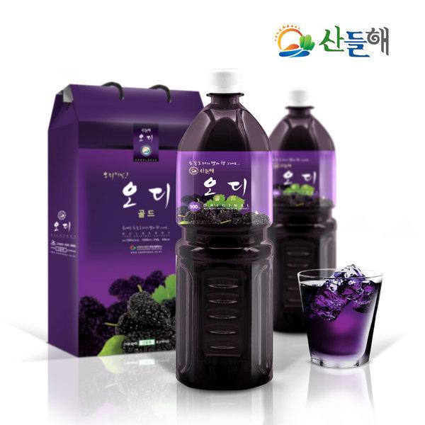 지리산 오디원액 2병/토종 오디즙/무설탕 착즙원액100% 상품이미지