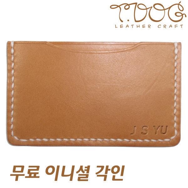 티독 수공예 카드지갑 이니셜 선물 명함지갑 카드홀더 상품이미지