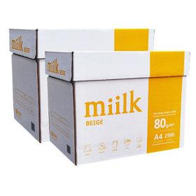 밀크 A4 복사용지(A4용지) 미색 80g 2박스/복사지