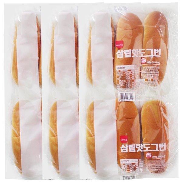 삼립 핫도그빵 3봉(총 18개입)/핫도그재료 수제핫도그 상품이미지