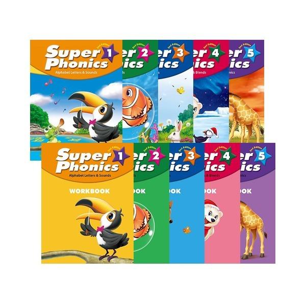 2ED SUPER PHONICS 1~5 Student book+Work book SET (슈퍼파닉스)  무료배송 상품이미지