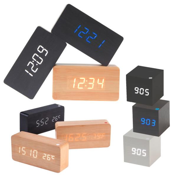 국내인증/LED 우드 인테리어 탁상시계/무소음 상품이미지