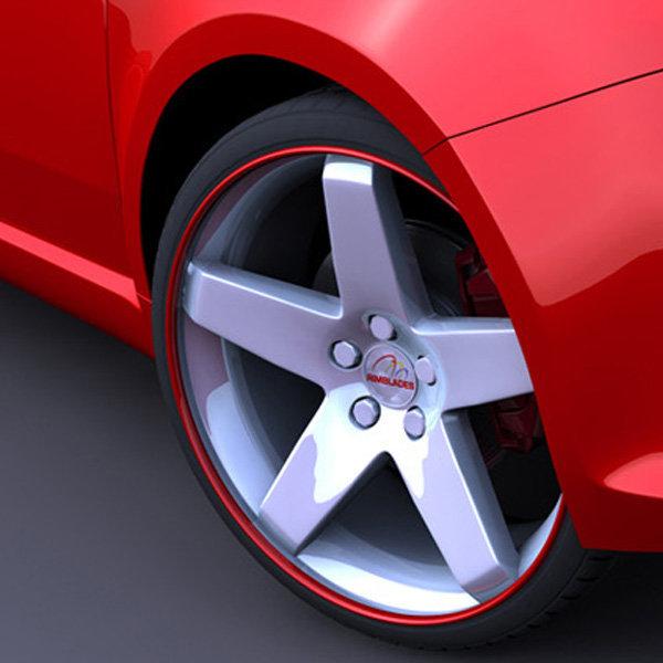 림 블레이드 휠보호테이프 차량한대분 타이어 알루미늄휠 휠라인 스티커 프로텍터 자동차휠 튜닝 휠캡 가드 상품이미지