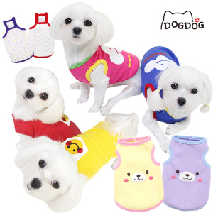 만원이상무배/3900원~ 강아지옷 수면조끼 도그도그
