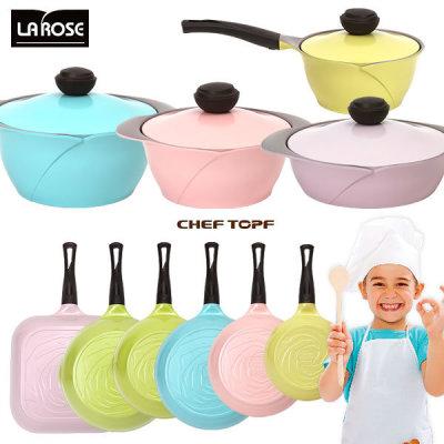 CHEF TOPF La Rose Ceramic Coated Pan
