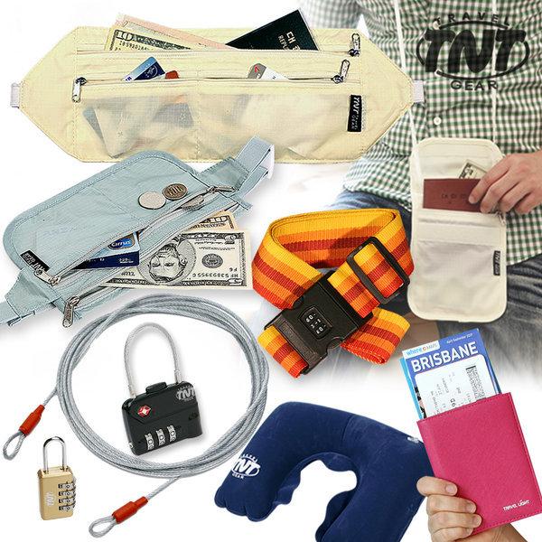 TNT 해외여행용품. 여권지갑 자물쇠 보조가방 케이스 상품이미지