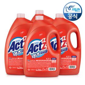 액체세제 액츠 4.21L(일반)/세탁세제 x 4개