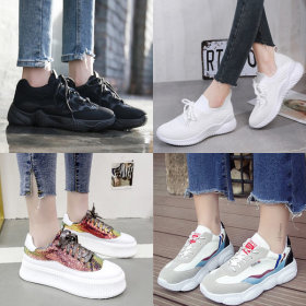 New school semester shoes 9900 free shipping in Korea high-top sneakers Velcro platform