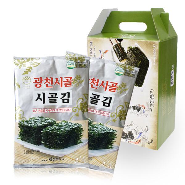 광천 시골 파래김 전장김 10봉 선물세트 상품이미지