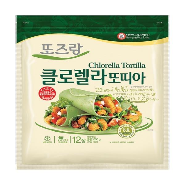 남향푸드또띠아-냉동 클로렐라8호 1봉(12장) 상품이미지