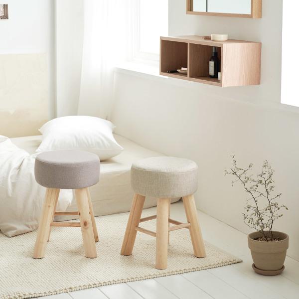 인테리어 화장대 디자인 원목 패브릭 스툴 의자 8종 상품이미지