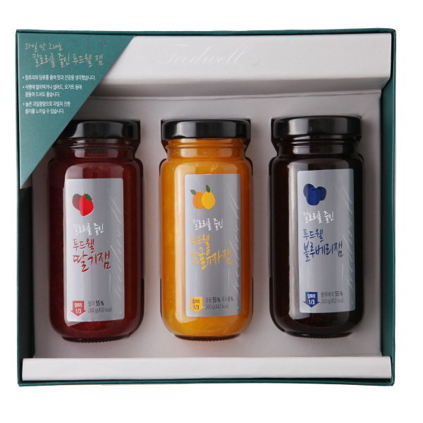 선물세트) 칼로리를 줄인 푸드웰 잼 3종 선물세트 상품이미지