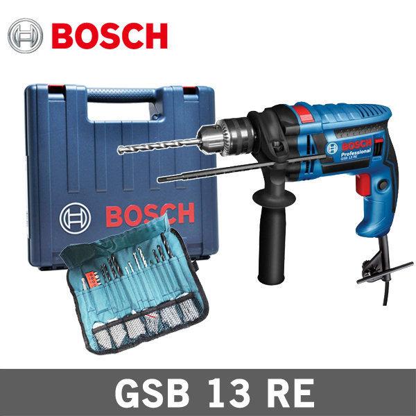 보쉬 GSB13RE 전기 해머 함마 드릴 100PCS 파우치증정 상품이미지