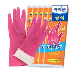 마미손 고무장갑 미니(소형) 5개묶음  라텍스/김장
