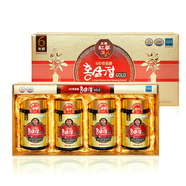 Gmarket - 6-year-old Korean Red Ginseng Extract Gold 250g X 4 bottles 1000g  total/Red Ginseng New year gift
