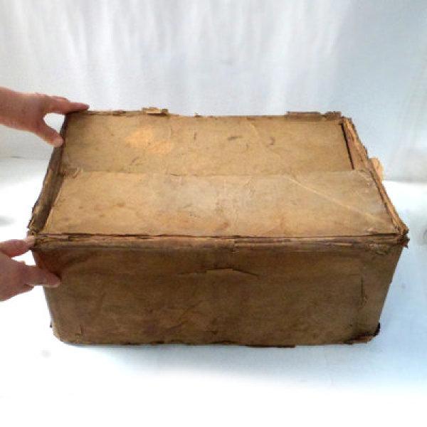 낡은 종이 상자/민속품/옛날물건/지함/옛날생활용품 상품이미지